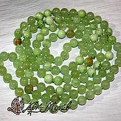 Beads1 handmade. Livemaster - original item Calcite (onyx marble), smooth sterling silver beads, 8 mm. Handmade.