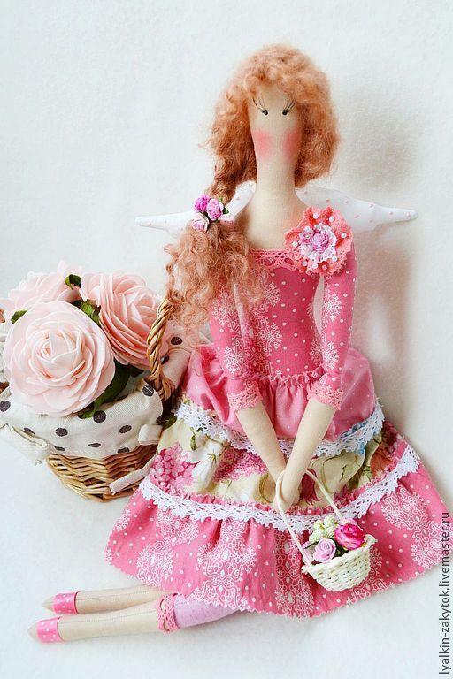 Куклы Тильды ручной работы. Ярмарка Мастеров - ручная работа. Купить Тильда цветочная фея. Handmade. Розовый, тильда кукла