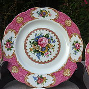 "Набор из 6 тарелок Royal Albert ""Lady Carlyle"", Англия"