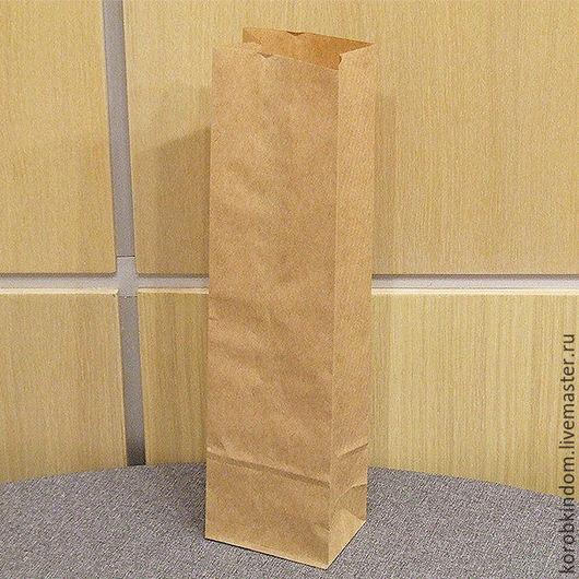 Упаковка ручной работы. Ярмарка Мастеров - ручная работа. Купить Пакет 9х33х6,5 см крафт коричневый без ручек. Handmade.