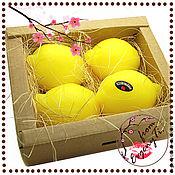 Мыло ручной работы. Ярмарка Мастеров - ручная работа Лимонное небо - подарочный набор мыла ручной работы. Handmade.
