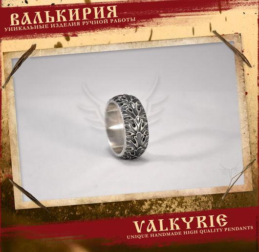 Кулоны и подвески ручной работы  из серебра 925 пробы.Кольцо `кленовый лист`  купить. Мастерская Валькирия.