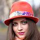 Головные уборы ручной работы. Шляпа федора `Амстердам`. Автор Евгения Лисицына (Jane Fox). Ярмарка Мастеров.