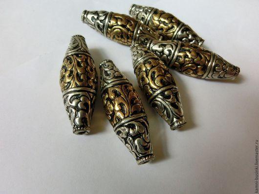 Шикарные Тибетские бусины серебро латунь ручная гравировка Непал. Тибетские Бусины  для колье, непальские бусины для браслетов, Тибетская бусина для серег.