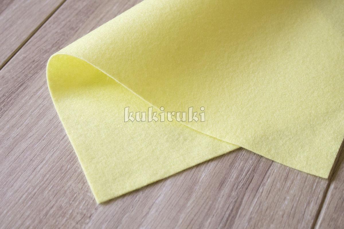 Лимонный мягкий корейский фетр, Войлок, Москва, Фото №1