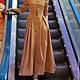 Платья ручной работы. Платье сафари/платье в пол/длинное платье. Виктория Третьяк. Интернет-магазин Ярмарка Мастеров. Платье, платье авторское