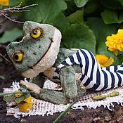 Куклы и игрушки ручной работы. Ярмарка Мастеров - ручная работа Лягушонок Кваля.. Handmade.