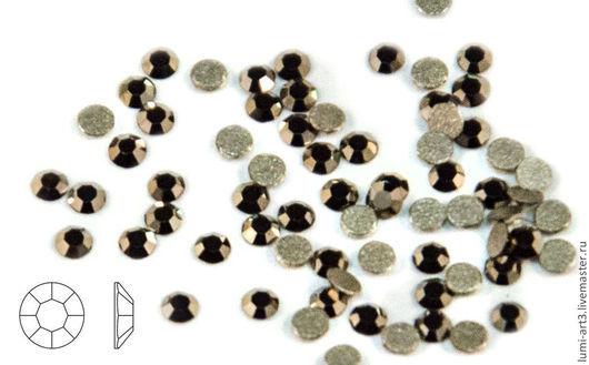 Для украшений ручной работы. Ярмарка Мастеров - ручная работа. Купить ss3 Metallic Light Gold Клеевые стразы холодной фиксации 30 шт. Handmade.
