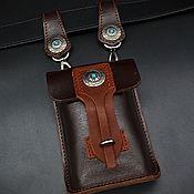 Поясная сумка ручной работы. Ярмарка Мастеров - ручная работа Поясная сумка из натуральной кожи МК2. Handmade.