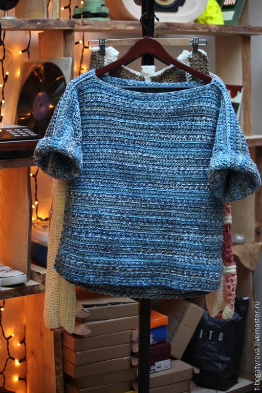 Пуловер в стиле бохо