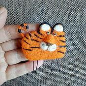 Украшения handmade. Livemaster - original item Tiger Brooch. Handmade.