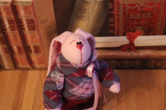 Игрушки животные, ручной работы. Ярмарка Мастеров - ручная работа. Купить Маленький кролик. Handmade. Розовый, интерьерная игрушка