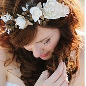 Свадебный салон ручной работы. Ярмарка Мастеров - ручная работа Цветочный ободок в стиле Бохо. Handmade.