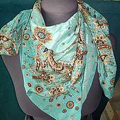 Аксессуары handmade. Livemaster - original item Pavlovo Posad silk shawl