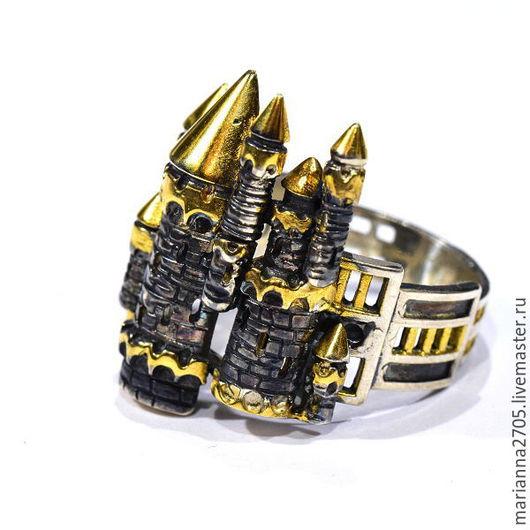 """Кольца ручной работы. Ярмарка Мастеров - ручная работа. Купить """"В тридевятом царстве...""""  кольцо большого размера ФЭНТЕЗИ. Handmade."""