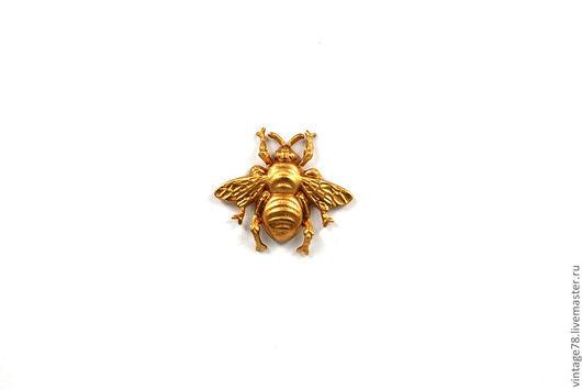 Для украшений ручной работы. Ярмарка Мастеров - ручная работа. Купить Винтажная фурнитура для бижутерии,латунный штамп пчела H12.R. Handmade.