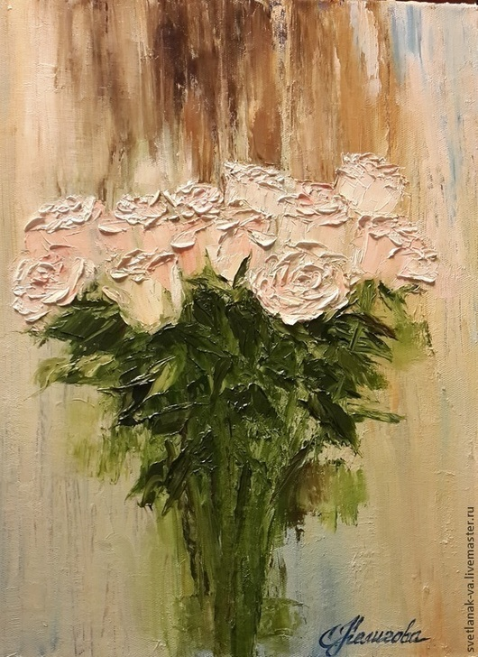"""Картины цветов ручной работы. Ярмарка Мастеров - ручная работа. Купить Картина маслом """"Розы"""". Handmade. Цветы, картина в подарок"""