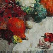 """Картины и панно ручной работы. Ярмарка Мастеров - ручная работа Картина маслом """"Тыква"""". Handmade."""