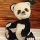 Мишки Тедди ручной работы. Ярмарка Мастеров - ручная работа. Купить Панда игрушка ЮКО. Handmade. Чёрно-белый