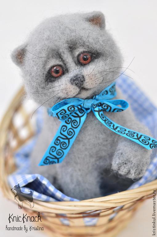 Игрушки животные, ручной работы. Ярмарка Мастеров - ручная работа. Купить Котенок  британец - валяный кот из шерсти (войлочная игрушка). Handmade.