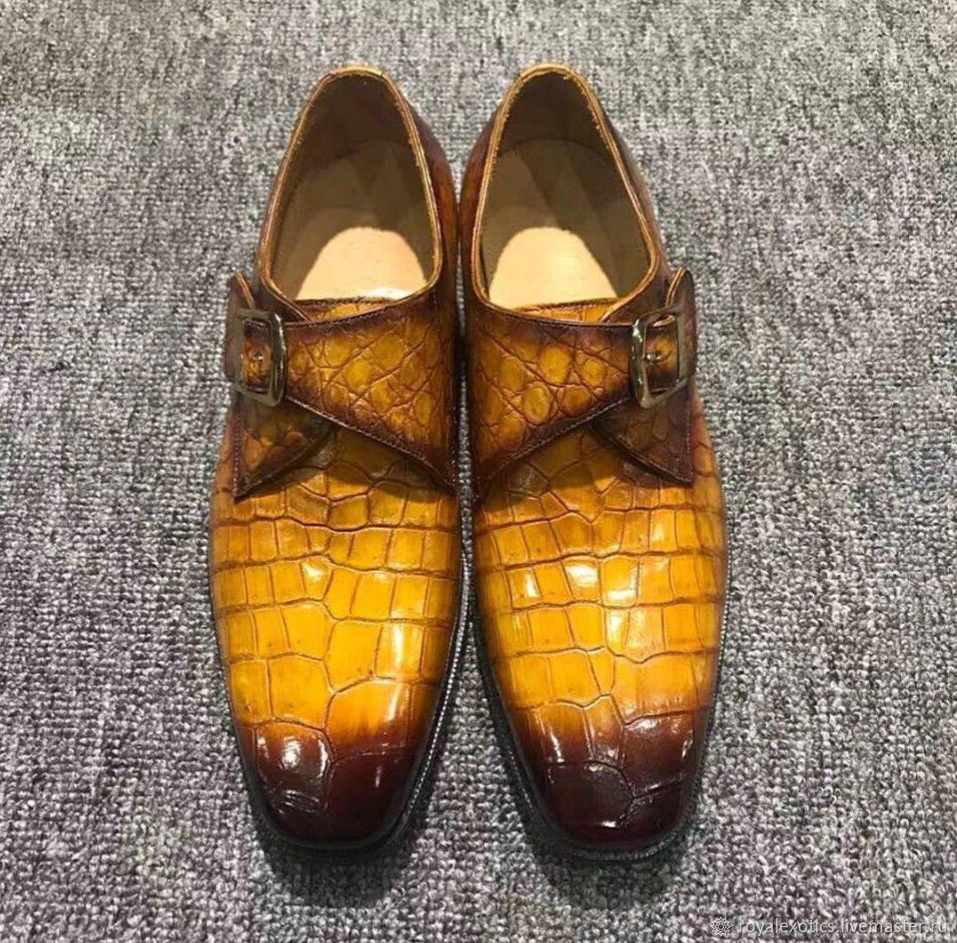 60e2a714b945 Обувь ручной работы. Ярмарка Мастеров - ручная работа. Купить Стильные туфли  из кожи крокодила ...
