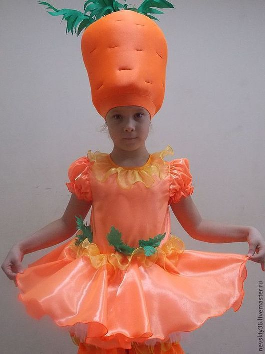 Детские танцевальные костюмы ручной работы. Ярмарка Мастеров - ручная работа. Купить МОРКОВЬ. Handmade. Оранжевый, креп-сатин