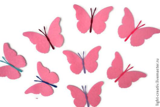 Аппликации, вставки, отделка ручной работы. Ярмарка Мастеров - ручная работа. Купить вырубка из фетра бабочка из полушерстяного фетра 1,1 мм. Handmade.
