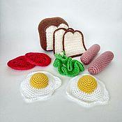 Кукольная еда ручной работы. Ярмарка Мастеров - ручная работа Вязаная еда. Handmade.