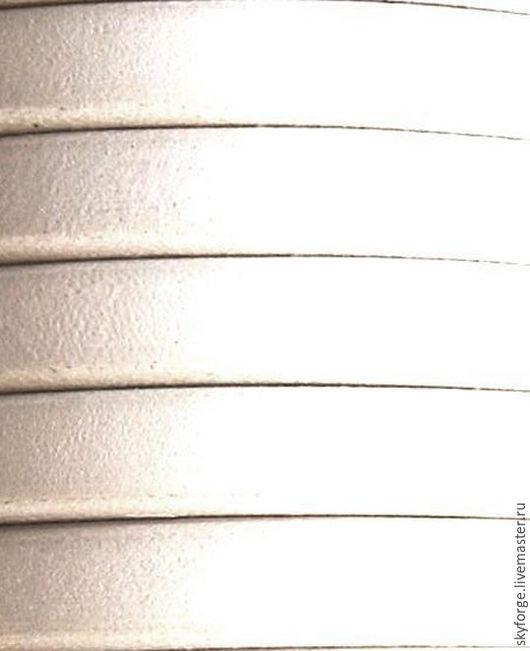 Для украшений ручной работы. Ярмарка Мастеров - ручная работа. Купить Кожаный шнур РЕГАЛИЗ, 10x6 мм, белый. Handmade.