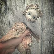 """Куклы и игрушки ручной работы. Ярмарка Мастеров - ручная работа """"Не стану больше плакать..."""" птичка тедди-долл. Handmade."""