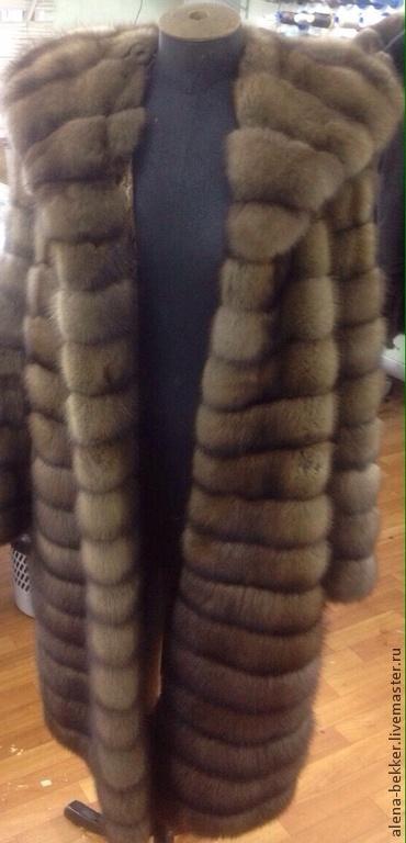 """Верхняя одежда ручной работы. Ярмарка Мастеров - ручная работа. Купить Шубка из баргузинского соболя """"Тортора"""". Handmade. Бежевый"""