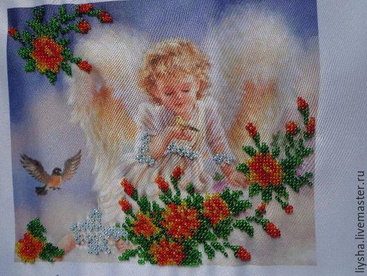 Люди, ручной работы. Ярмарка Мастеров - ручная работа. Купить Нежный ангел. Handmade. Разноцветный, нежность, габардин, крепление на стену