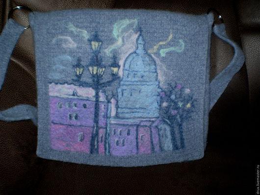 Женские сумки ручной работы. Ярмарка Мастеров - ручная работа. Купить валяная сумка по мотивам работ Людмилы Кучиной. Handmade.