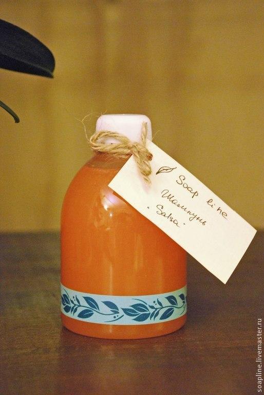 """Шампунь ручной работы. Ярмарка Мастеров - ручная работа. Купить """"Salsa"""" бодрящий разогревающий шампунь. Handmade. Рыжий, оранжевый цвет"""