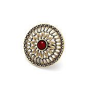 Украшения handmade. Livemaster - original item Ring Salicicola bronze, ruby cabochon. Handmade.