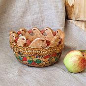 Подарки к праздникам ручной работы. Ярмарка Мастеров - ручная работа Чаша с грифонами. Handmade.
