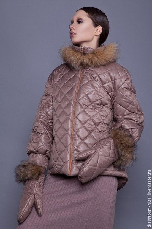 Верхняя одежда ручной работы. Ярмарка Мастеров - ручная работа. Купить Куртка с мехом лисы!!. Handmade. Бежевый, куртка, купить