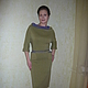 """Платья ручной работы. Платье """" Яблоневый цвет"""". Кофейное зёрнышко. Ярмарка Мастеров. Зеленый цвет, платье с рукавом"""