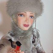 Куклы и игрушки ручной работы. Ярмарка Мастеров - ручная работа Снегурочка со снегирем. Handmade.