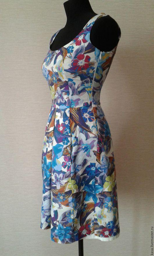 Платья ручной работы. Ярмарка Мастеров - ручная работа. Купить Сарафан из хлопка. Handmade. Комбинированный, платье на каждый день, сарафан