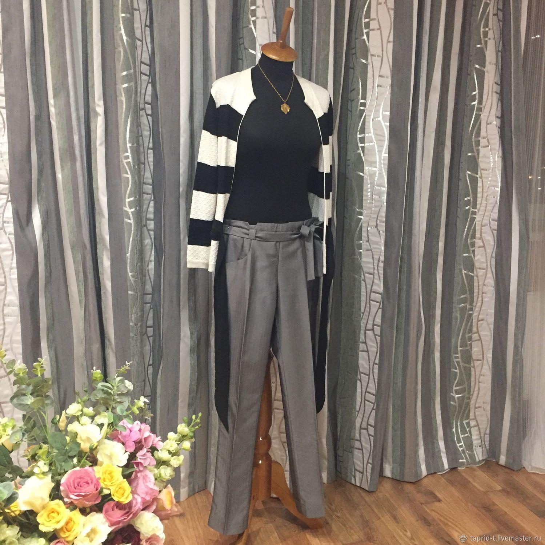 Одежда. Ярмарка Мастеров - ручная работа. Купить Винтаж: Шелковые серые брюки от бренда Е2О 42 размер 104-о. Handmade.