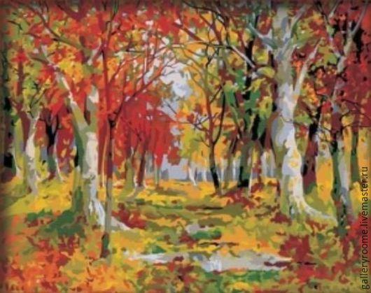 Другие виды рукоделия ручной работы. Ярмарка Мастеров - ручная работа. Купить Картина по номерам Осенняя просика. Handmade.