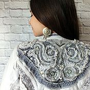 Одежда handmade. Livemaster - original item Cotton jacket with lace trim in light colors in boho style. Handmade.