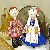 Куклы и игрушки ручной работы. Ярмарка Мастеров - ручная работа куклы текстильные в народном костюме. Handmade.