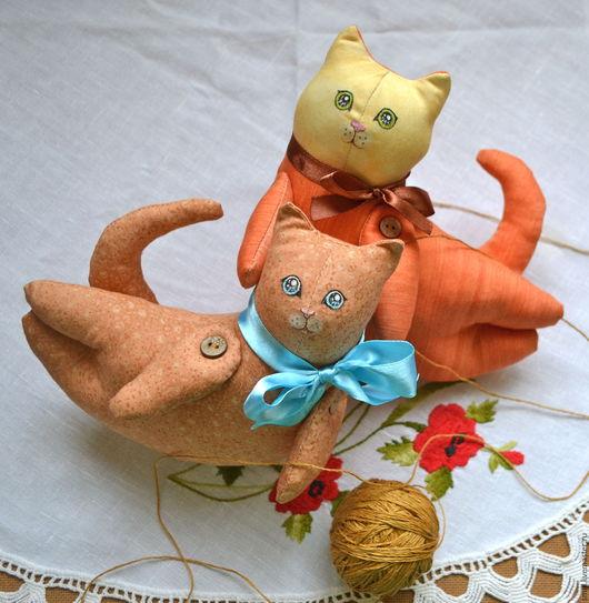 Игрушки животные, ручной работы. Ярмарка Мастеров - ручная работа. Купить Котятки. Handmade. Комбинированный, оранжевый, рыжий, котик