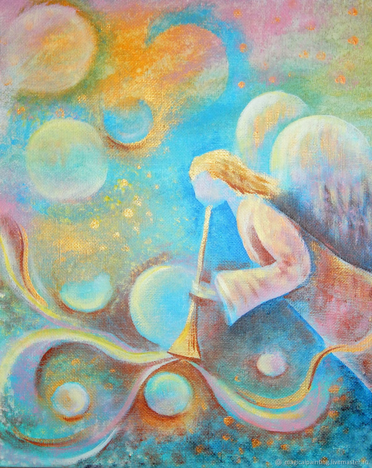 Painting with an angel ' Music of the Higher Spheres', Pictures, St. Petersburg,  Фото №1
