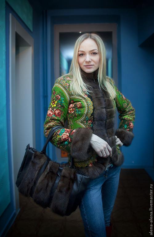 """Верхняя одежда ручной работы. Ярмарка Мастеров - ручная работа. Купить Зимнее пальто """"Сударушка"""". Handmade. Цветочный, дизайнерская одежда"""