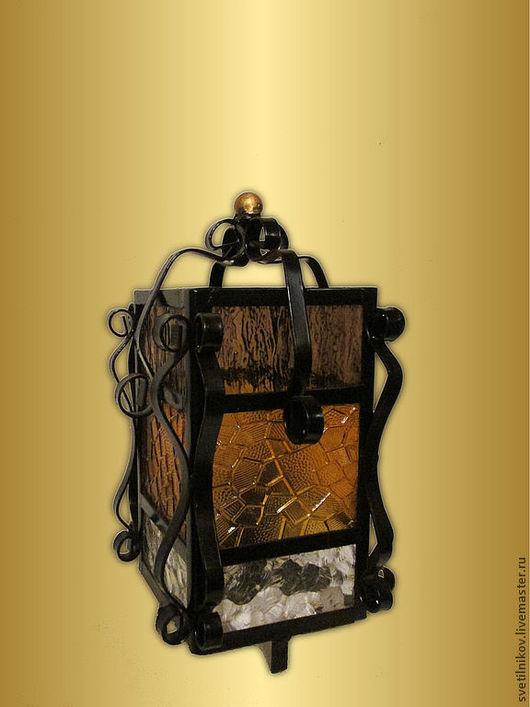 """Освещение ручной работы. Ярмарка Мастеров - ручная работа. Купить светильник настольный """"Пузач"""". Handmade. Черный, Ковка, интерьер, сталь"""