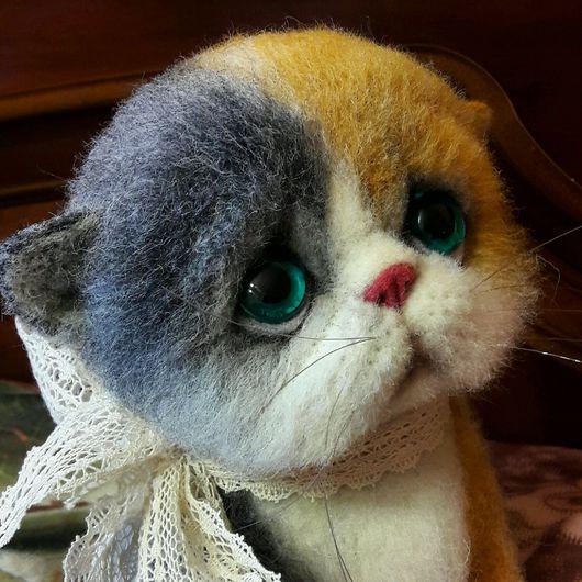 Игрушки животные, ручной работы. Ярмарка Мастеров - ручная работа. Купить Кошка Катька. Handmade. Кошки, шерсть
