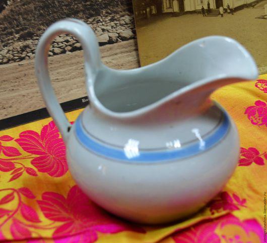 Винтажная посуда. Ярмарка Мастеров - ручная работа. Купить Молочник винтажный Волхов 20-е года. Handmade. Белый, подарок